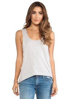 Michael Stars High Low Scoop Neck Tank in Light Gray