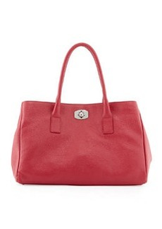 Furla New Appaloosa Leather Tote Bag, Fuchsia