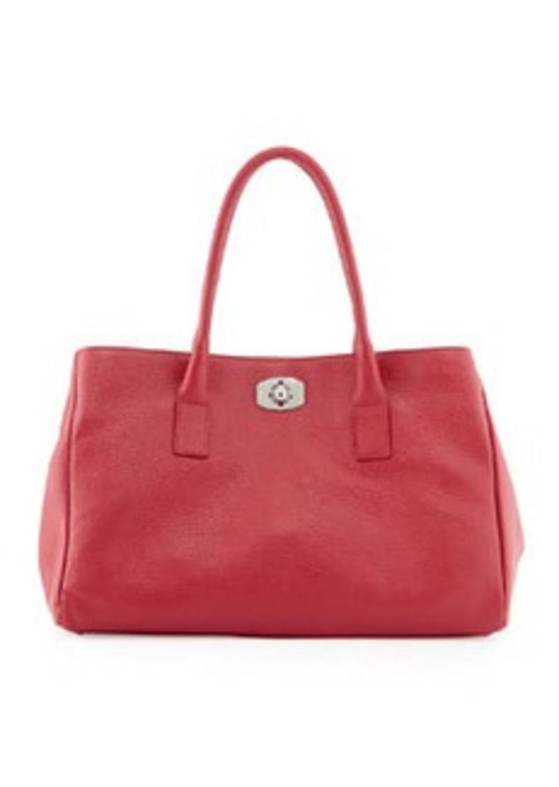 furla furla new appaloosa leather tote bag fuchsia handbags shop it to me. Black Bedroom Furniture Sets. Home Design Ideas