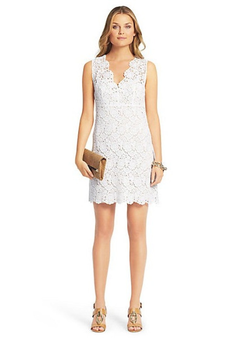 Hippolyte Sleeveless Crochet Lace Dress
