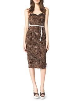 Michael Kors Strapless Polka-Dot Dress