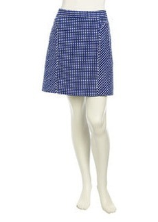 Laundry by Shelli Segal Straight Swiss Dot Skirt, Blue Beret