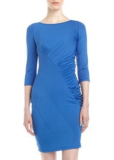 Catherine Malandrino Ruched-Side Bias Jersey Dress, Cobalt