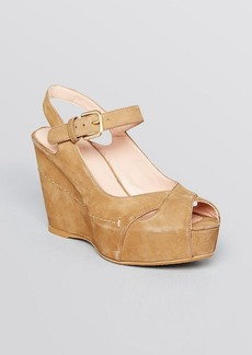Stuart Weitzman Peep Toe Platform Wedge Sandals - Turnover
