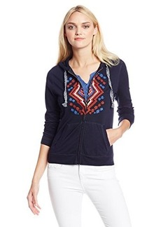Lucky Brand Women's Embroidered Hoodie