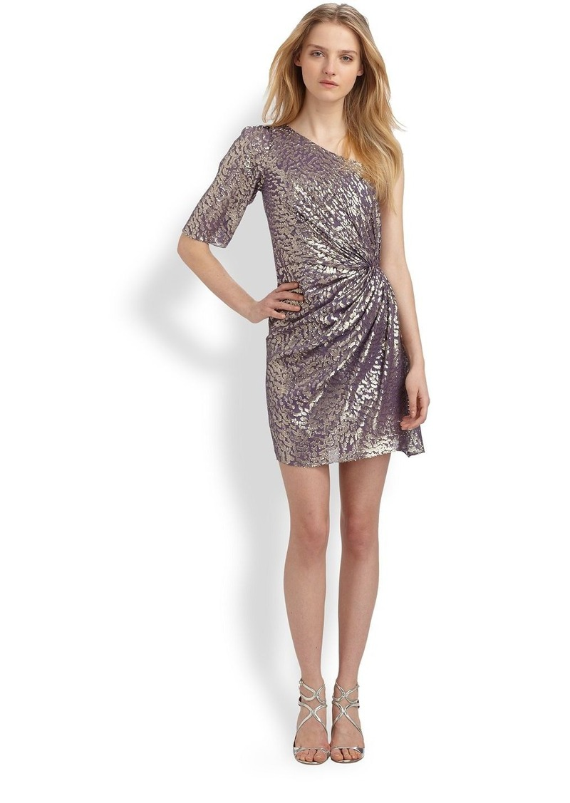 Shoshanna Metallic Silk Dress