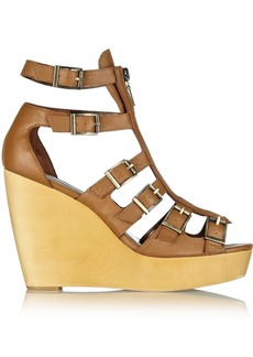 12th Street by Cynthia Vincent Pacey leather wedge sandals