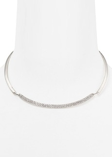ABS by Allen Schwartz Modern Pave Torque Necklace, 16""
