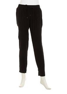 Joie Julietta B Silk Drawstring Pants, Caviar