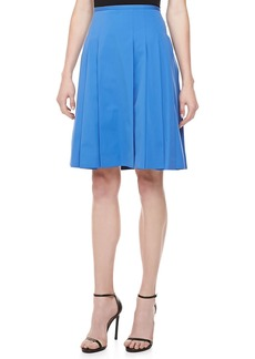 Michael Kors Poplin Pleated Skirt, Sea