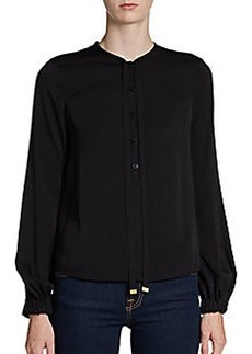 Diane von Furstenberg Whitman Stretch Silk Blouse