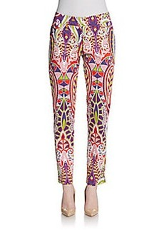 Lafayette 148 New York Paisley Slim Ankle Pants
