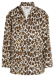 Stella McCartney Leopard-print linen jacket