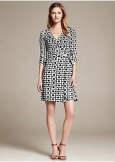 Gemma Geo-Print Wrap Dress