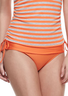 Splendid Solid Banded Swim Bottom, Orange