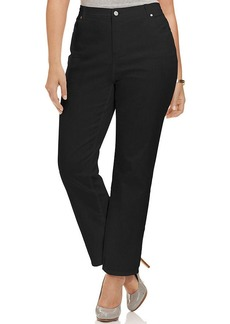 Charter Club Plus Size Kate Straight-Leg Jeans, Blackout Wash