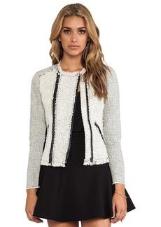 Rebecca Taylor Tweed Jacket in Ivory