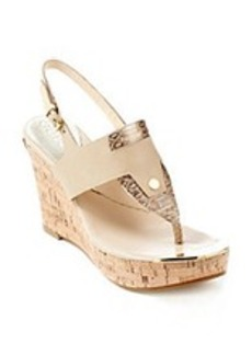 "Guess ""Magli"" Slingback Wedge Sandals"