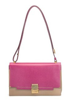 New Partition Shoulder Bag, Pink/Brown   New Partition Shoulder Bag, Pink/Brown