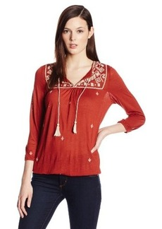 Lucky Brand Women's Winona Embroidered Top
