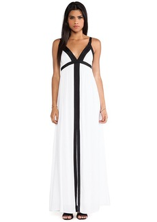Ella Moss Stella Color Block Maxi Dress in White