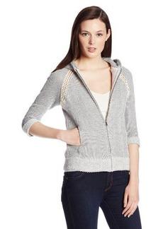 Lucky Brand Women's Crochet Zip Hoodie Sweatshirt