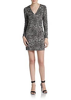 Diane von Furstenberg Reina Printed Long-Sleeve Dress