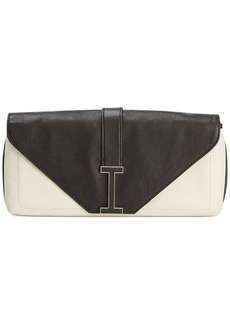 Isaac Mizrahi Pebbled Leather Ingrid Clutch