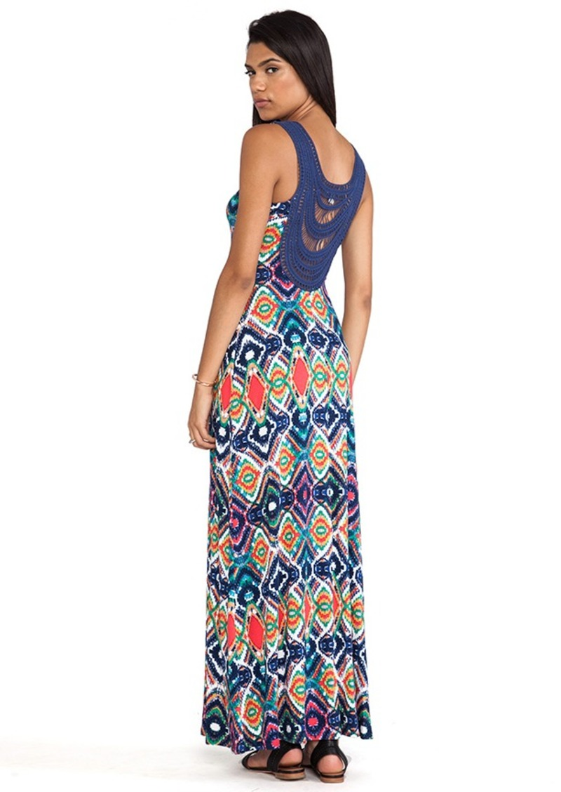 Ella Moss Totem Maxi Dress in Navy