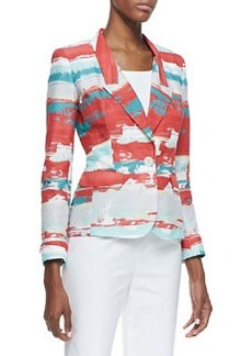 Lafayette 148 New York Adina Printed One-Button Jacket