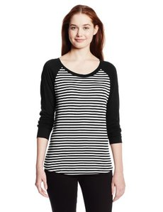 Marc New York Performance Women's Long Sleeve Stripe Baseball Tee