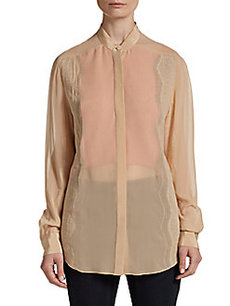 3.1 Phillip Lim Bib Collar Peek-a-Boo Blouse