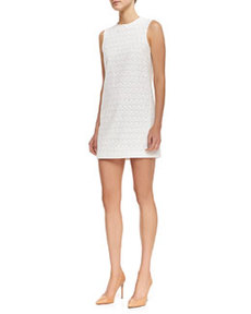 Ellice Perforated Cotton Sleeveless Dress   Ellice Perforated Cotton Sleeveless Dress