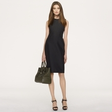 Leather-Trim Cate Dress