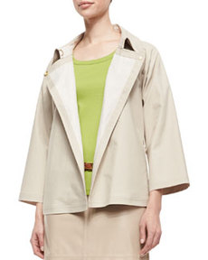 Lafayette 148 New York Reanne Bracelet-Sleeve Topper Jacket