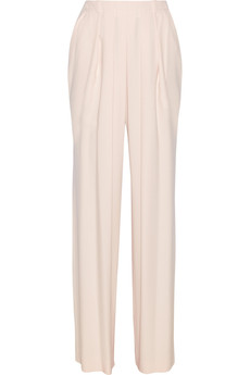 Chloé Pleated crepe straight-leg pants