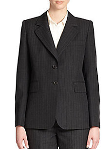 Marc Jacobs Pinstripe Two-Button Blazer