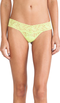 Hanky Panky Signature Lace Low Rise Thong in Green