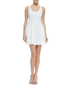 Natrina Eyelet Sleeveless Dress   Natrina Eyelet Sleeveless Dress