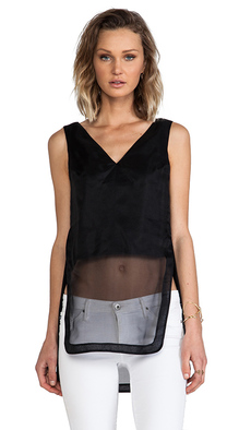 Robert Rodriguez Illusion V Tank Top in Black