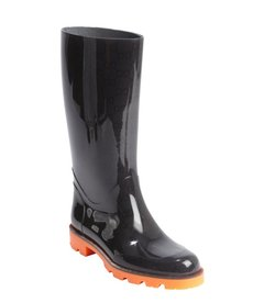 Gucci orange and black rubber boots