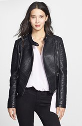 Laundry by Design Turtle Embossed Faux Leather Jacket