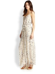 Joie Marucheka Floral-Printed Silk Maxi Dress