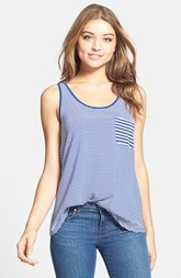 kensie Stripe Pocket Tank Top
