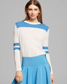 DKNY Color Blocked Long Sleeve Pullover