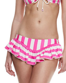 Juicy Couture Boho Striped Skirted Swim Bottom