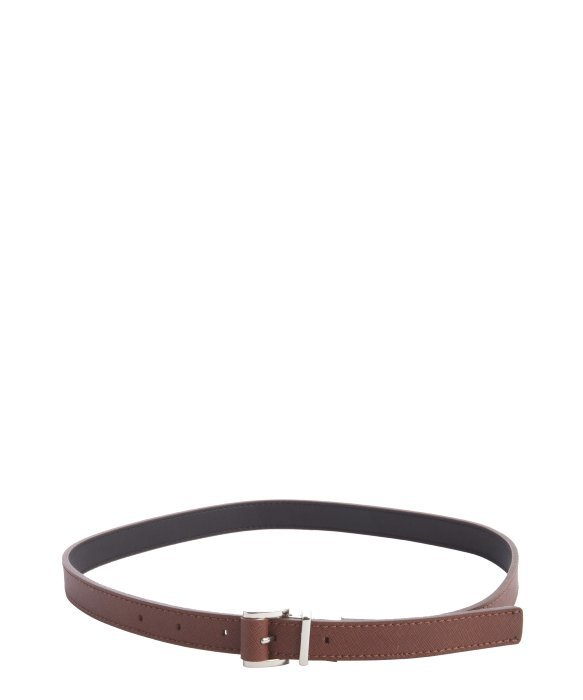 Calvin Klein khaki faux leather 'Saffiano' medium reversible belt