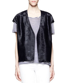 J Brand Ready to Wear Eberhardt Calf-Hair Vest