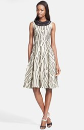 Tracy Reese Embellished Jacquard Fit & Flare Dress