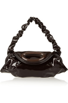 Marni Patent-leather large shoulder bag